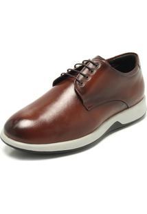 Sapato Social Couro Jota Pe Bico Redondo Marrom