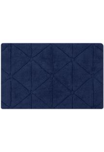 Tapete De Banheiro Barcelona- Azul Escuro- 140X60Cm
