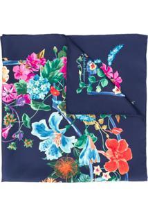 Salvatore Ferragamo Echarpe Floral - Azul