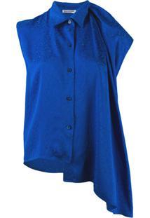 Balenciaga Blusa Sem Mangas - Azul