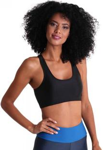 Top Nadador Lycra Power Club - Preto - Líquido - Tricae