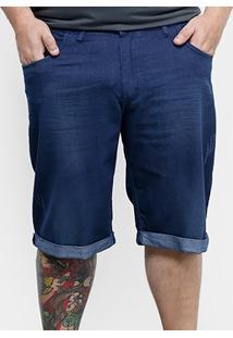 Bermuda Jeans Preston Plus Size Elastano Masculina - Masculino