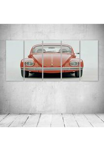 Quadro Decorativo - Volkswagem Beetle Car Classic Retro Pop - Composto De 5 Quadros - Multicolorido - Dafiti