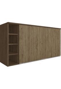 Armário Aéreo Cozinha 2 Portas 5032 Cedro/Wood - Decibal Móveis