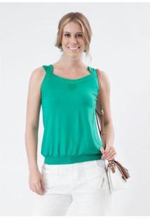 Regata Pau A Pique - Feminino-Verde