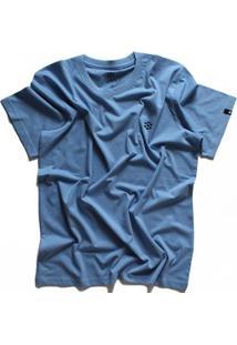 Camiseta Zebra Pine Cone Casual Masculino - Masculino-Azul