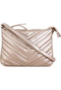 Bolsa Pagani Mini Bag Transversal Matelassê Feminina - Feminino-Dourado
