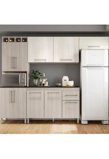 Cozinha Compacta Elisa - Com Tampo - Poliman - Rovere / Arena