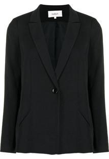 Ba&Sh Blazer Com Abotoamento Simples - Preto