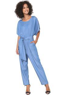 c9ca2515d ... Macacão Jeans Colcci Pantalona Pespontos Azul