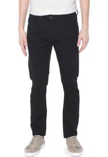 Calça Sarja Calvin Klein Jeans Skinny Pespontos Preta