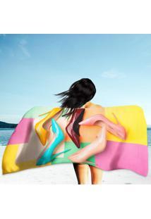 Toalha De Praia / Banho Bright Colored Women'S