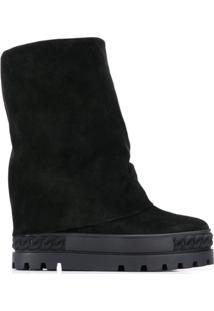 Casadei Ankle Boot Ampla - Preto