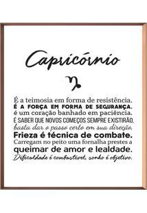 Quadro Decorativo Capricã³Rnio- Ros㪠Gold & Branco- 5Arte Prã³Pria