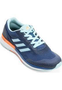 Tênis Adidas Mana Bounce 2 Feminino - Feminino-Azul Claro+Laranja