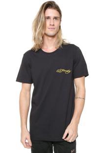 Camiseta Ed Hardy Tiger Signature Preta