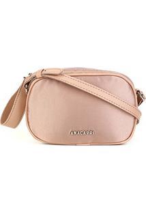 Bolsa Anacapri Mini Bag Cetim Feminina - Feminino-Rosa Claro