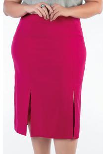 Saia Lápis Plus Size Pink