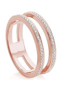 Monica Vinader Rp Double Band Diamond Ring - Prateado
