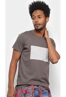 Camiseta Colcci Estampada Masculina - Masculino-Cinza