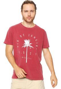 Camiseta Osklen Reta Vermelha