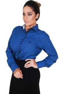 Camisa Lupim Azul Botões Diversos