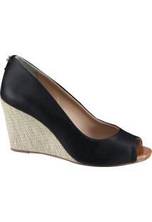 Sapato Cravo E Canela Anabela