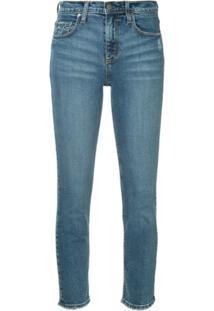 Nobody Denim Calça Jeans Skinny Com Barra Desfiada - Azul