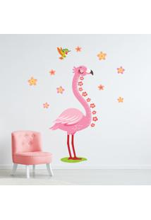 Adesivo De Parede Flamingo Régua De Crescimento 187X78Cm