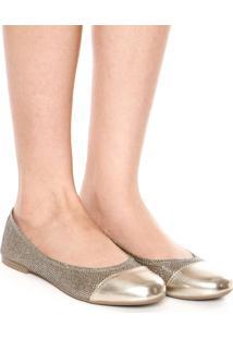 Sapatilha Dafiti Shoes Lurex Dourada