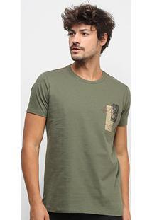 Camiseta Acostamento Resort Masculina - Masculino-Verde Militar