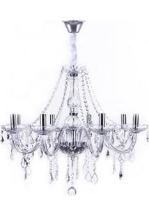 Lustre Maria Thereza Para 8 Lâmpadas - Transparente