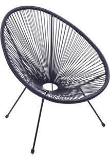 Cadeira Acapulco- Preta- 85X74X48Cm- Or Designor Design