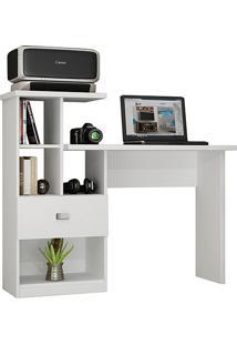 Escrivaninha Connect Branco Com 1 Gaveta - Benetil Móveis