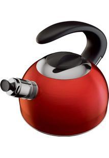 Chaleira Cosmopolitan- Inox & Vermelha- 1,8L- Eueuro Homeware