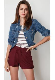 Jaqueta Jeans All I Need Is You Feminina Malwee - Azul Claro - G