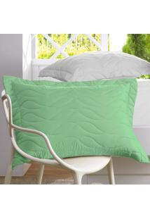 Porta Travesseiro All Design Verde Titânico - 50Cm X 70Cm Verde Altenburg