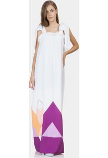 Vestido Longo Juliana Jabour Branco Off White - Lez A Lez