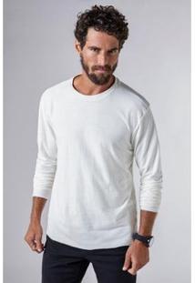 Camiseta Ml Canhamo Reserva Masculina - Masculino-Off White