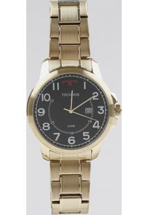 Relógio Analógico Technos Masculino - 2115Mpa4P Dourado - Único