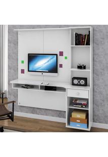 Mesa Para Computador 1 Gaveta Agáve Branco - Colibri Móveis