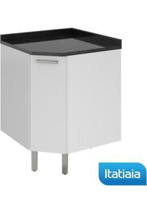 Módulo Cozinha Gabinete Com Tampo Dandara Canto 1 Porta - Iag - Branco - Aço - Itatiaia