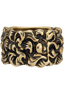 Gucci Anel Lion Mane - Dourado