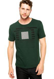 Camiseta Manga Curta Calvin Klein Jeans Estampada Verde