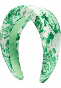 Ganni Tiara Matelassê Com Estampa Floral - Verde