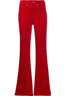7 For All Mankind Calça Jeans Flare - Vermelho