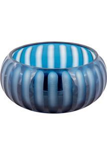 Vaso De Vidro Decorativo Oval Nilo - Linha Marina