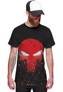 Camiseta Di Nuevo The Punisher Preta
