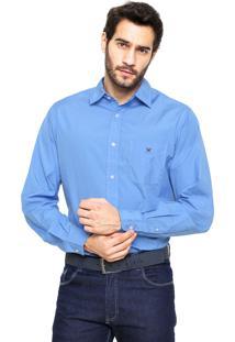 Camisa Polo Play Reta Fio 100 Azul