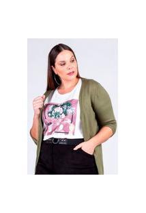 T-Shirt Estampada Almaria Plus Size Rery Gola Redonda Branco